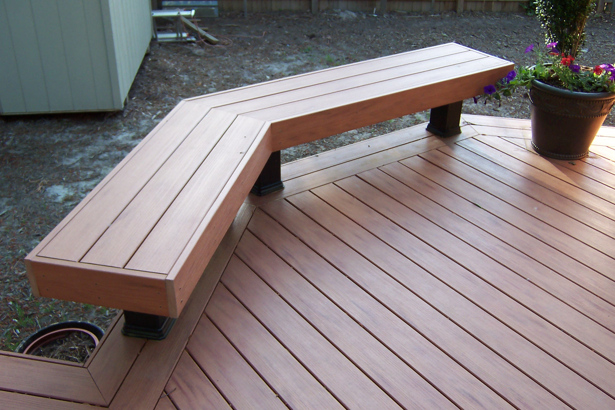 Composite Herringbone Deck Add A Deck