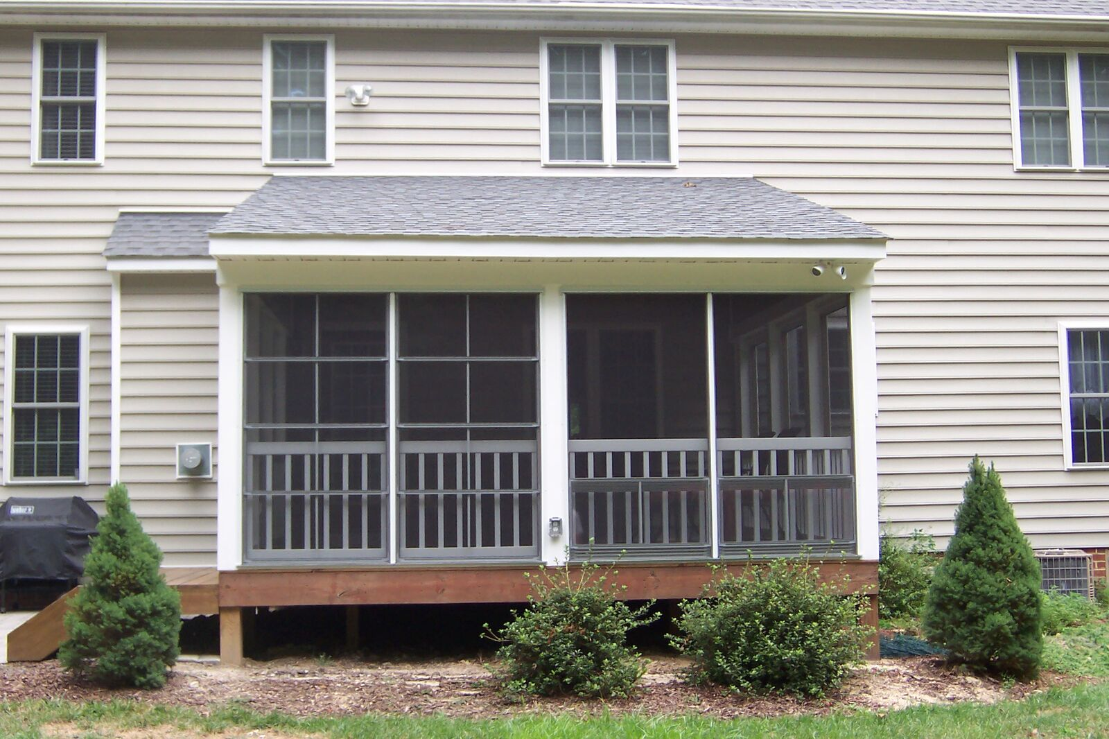 Shed Roof Porch - Add A Deck