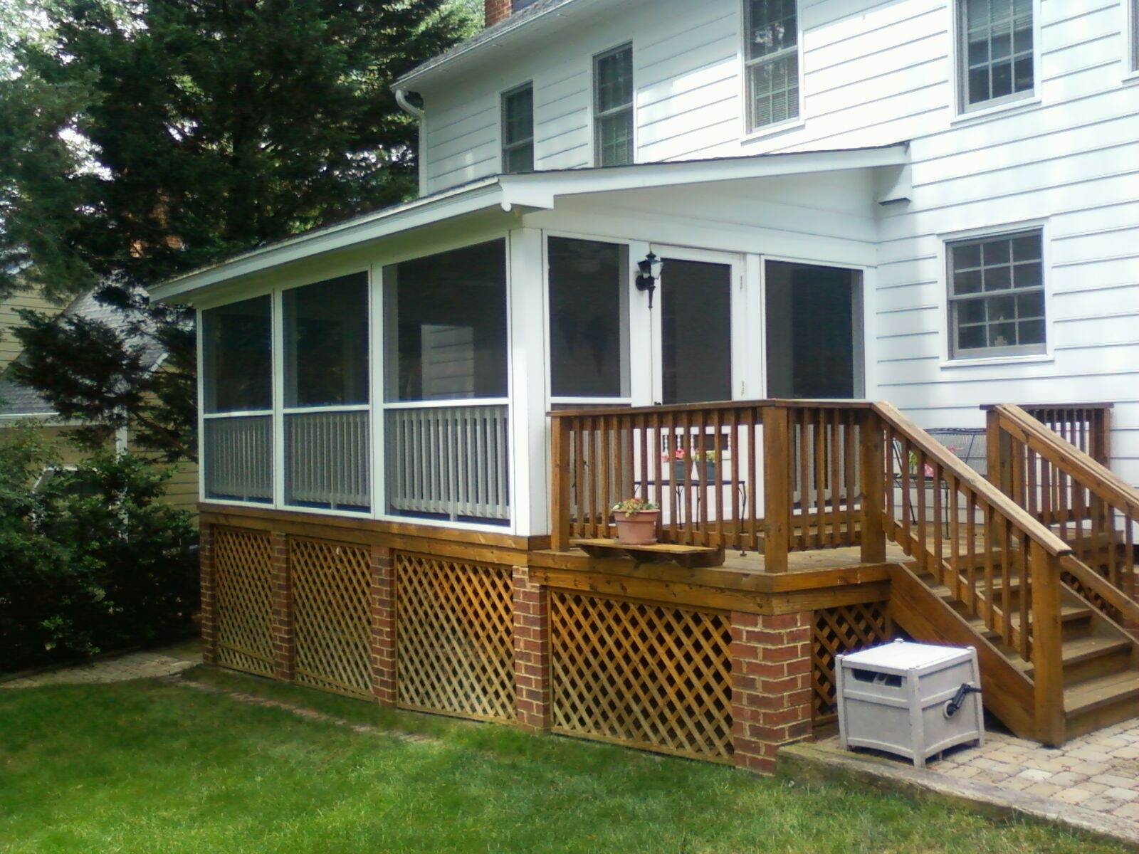 Traditional Screened Porch – Add A Deck